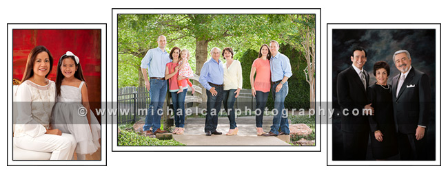 Holiday Shopping Card for Family Location Portraits and Studio Portraits