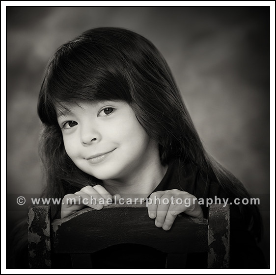 black and white child portraits