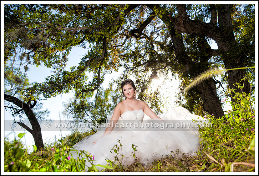 Hill country bridal portraits