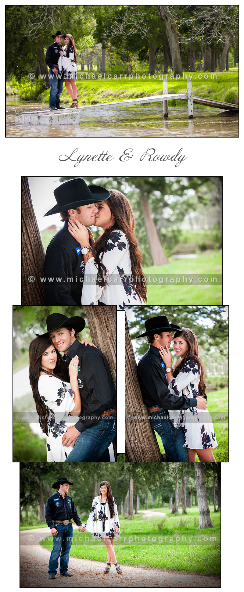 Texas Ranch Engagement Portraits